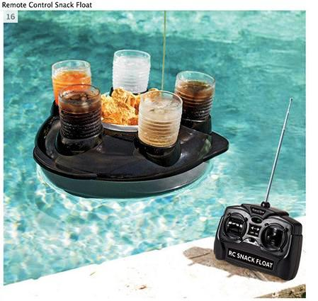 Control remoto para bebidas en la piscina