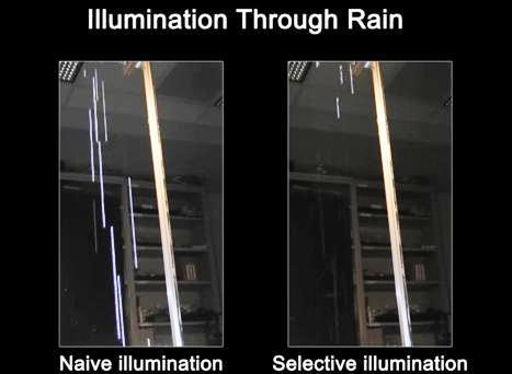 Faros que ocultan la lluvia