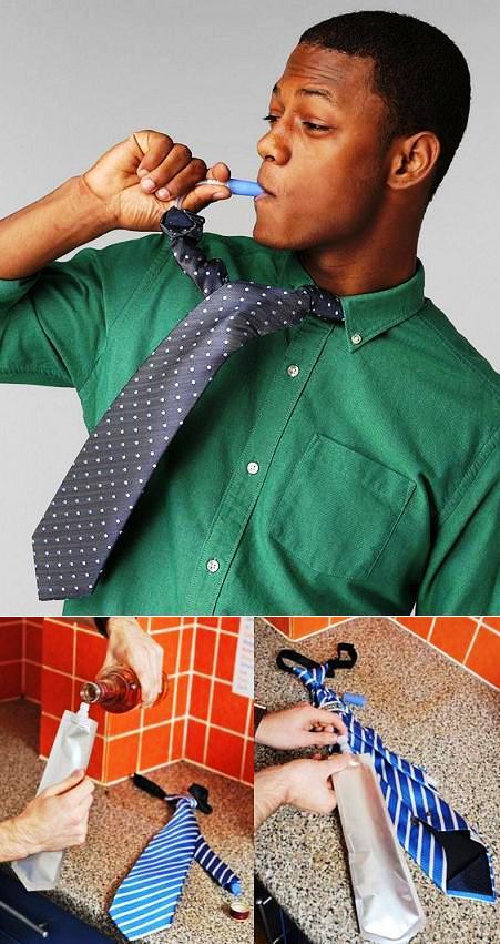La corbata botella