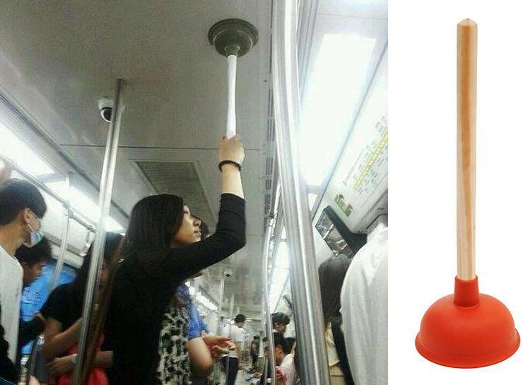 Soporte portatil para transporte publico