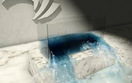 agua virtual generada por computador