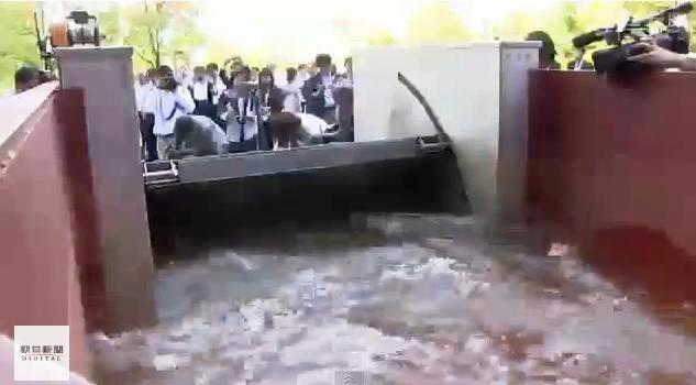 Japoneses inventan compuerta automática para protegerse de tsunamis