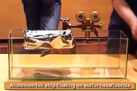 Experimentos extraños con Hexafluoruro de Azufre