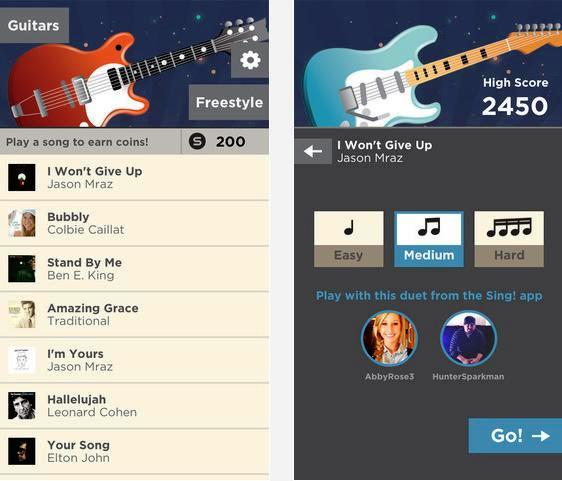 Toque guitarra con personas alrededor del mundo, gratis para iPhone, iPad, iPod
