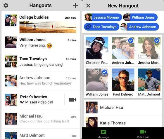 hangouts gratis para iphone