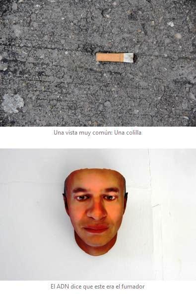 Ahora pueden obtener su rostro 3D a partir de una colilla de cigarrillo