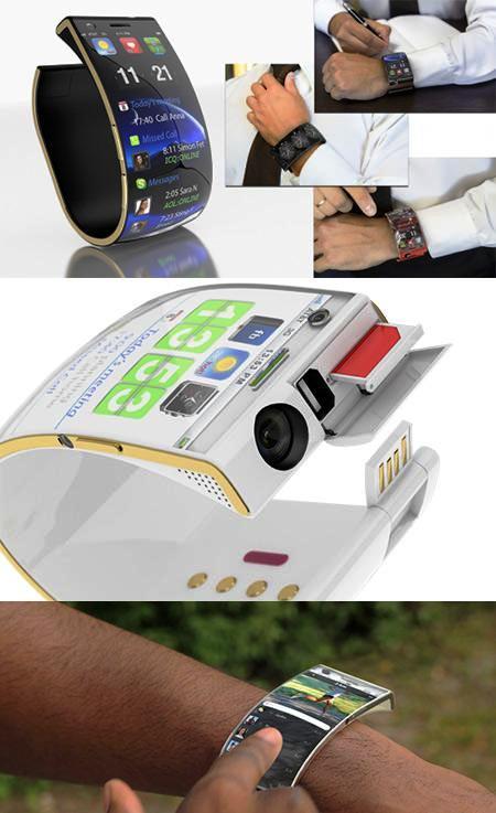 Smartphone para usar como reloj de pulsera, con pantalla flexible