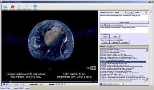 Reproductor de video gratuito para aprender idiomas