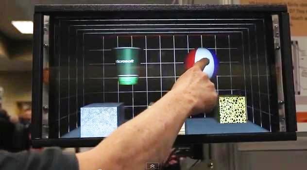 Microsoft desarrolla pantalla táctil que permite sentir la forma de los objetos