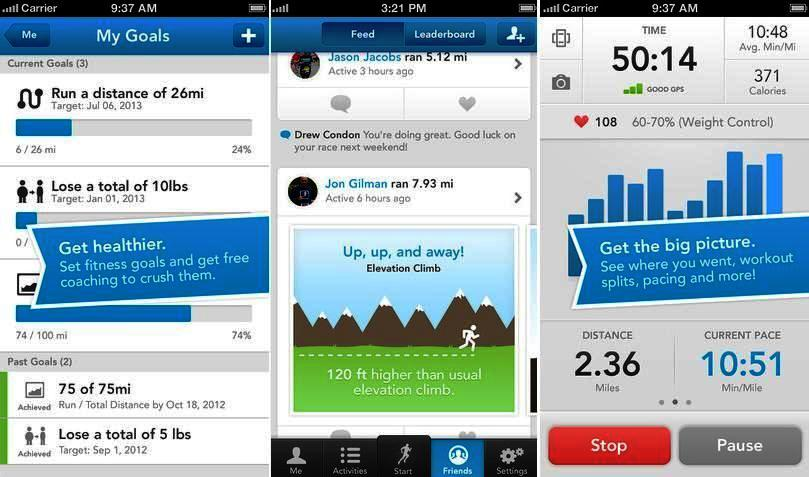 Entrenador personal RunKeeper gratuito para iPhone, iPad, iPod