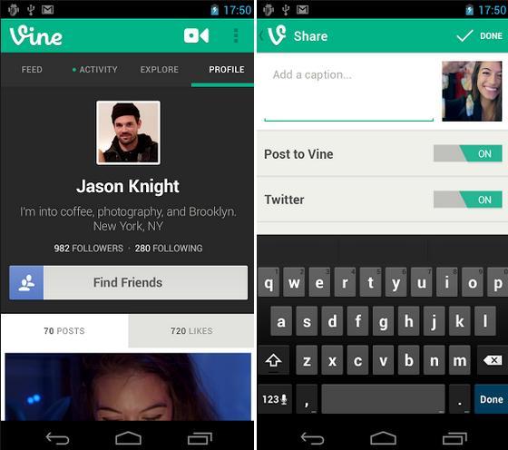 Comparta videos cortos con VIne gratis para Android, iPhone, iPad, iPod