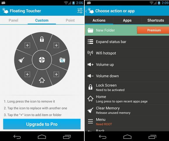 Un botón flotante que le facilita el control de su dispositivo, gratis para Android