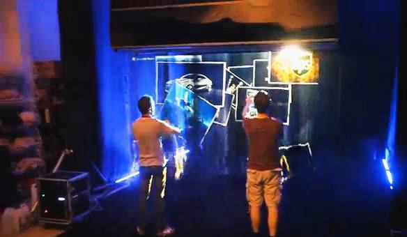 Pantalla tridimensional e interactiva hecha de aire