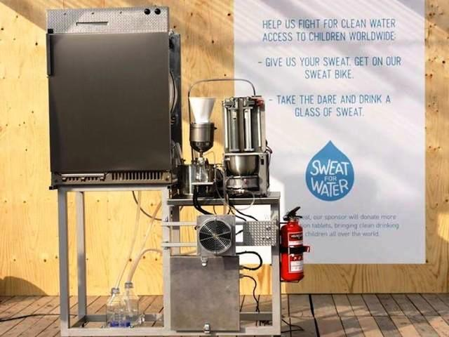 Fabrican máquina que convierte el sudor en agua potable