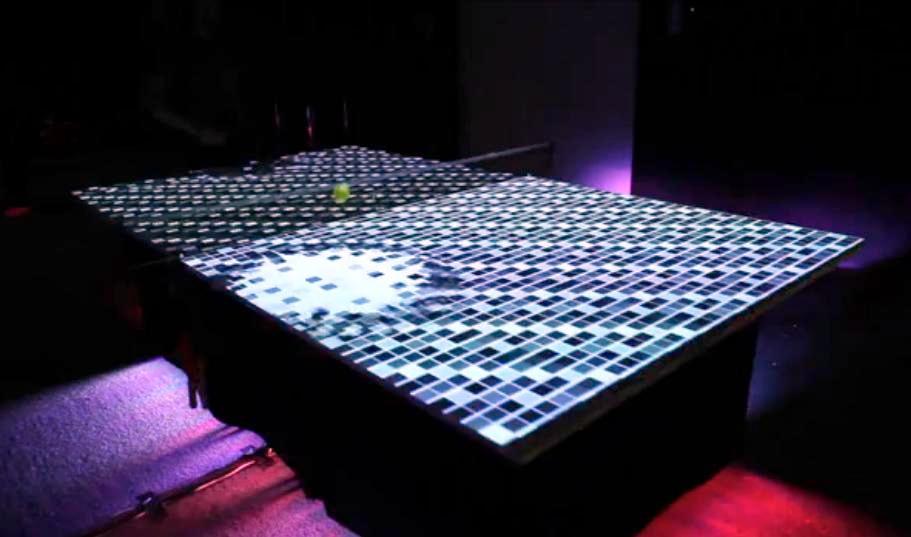 Mesa de ping-pong siglo XXI, gracias a la realidad aumentada