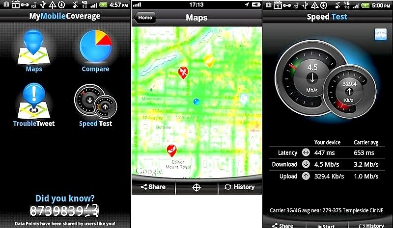 Pruebe la calidad de la señal de su operador celular, gratis para Android, iPhone, BlackBerry