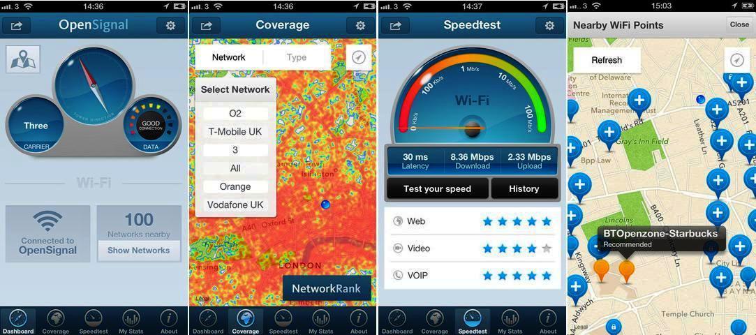 Localice la mejor señal de Wi-Fi y celular, gratis para Android, iPhone, iPad, iPod