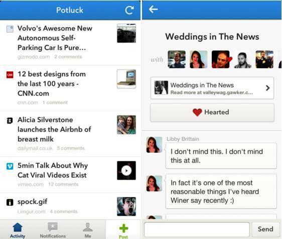Comparta el mejor contenido solo con amigos con intereses similares, gratis para iPad, iPod, iPhone