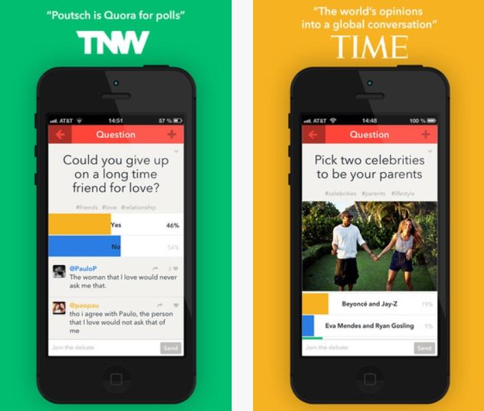 Cree encuestas, abra debates, gratis para iPhone, iPad, iPod