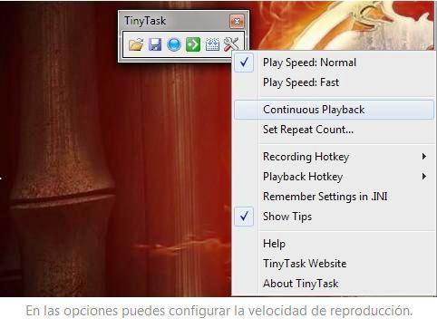 Automatice secuencias repetitivas de ratón y teclado, gratis para Windows
