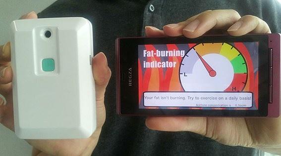 Sensor de su aliento le indica si está quemando grasa