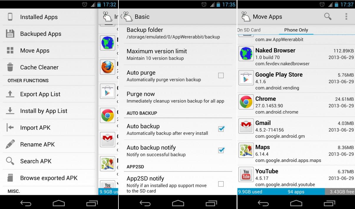 Administración y backup gratuito de los aplicativos de su equipo Android