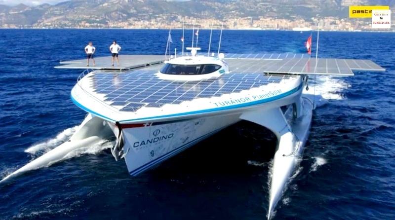 El barco solar más grande del mundo establece récord mundial al cruzar el Atlántico