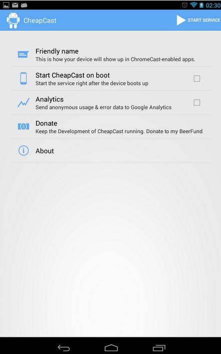 Envíe a otros equipos contenido multimedia gratis, desde su equipo Android, al estilo Chromecast