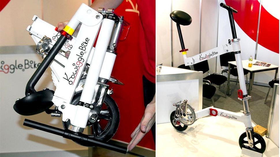 Kwiggle Bike es la bicicleta plegable más compacta del mundo