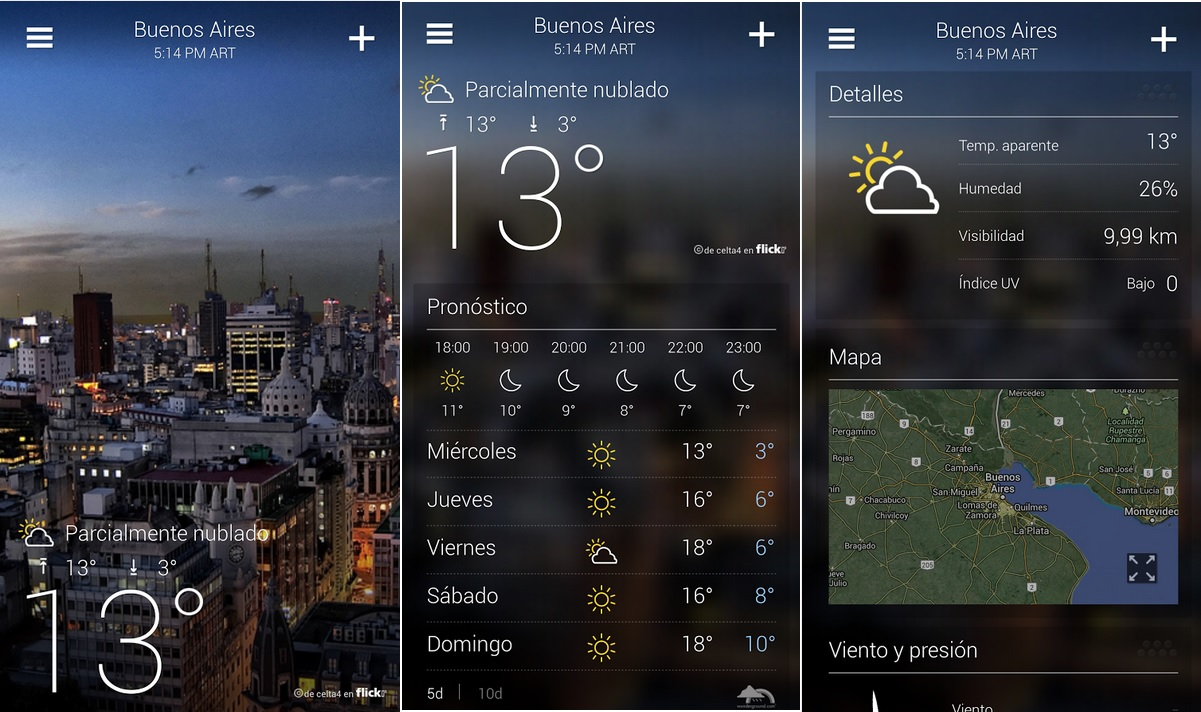 Yahoo! Clima gratis para iPhone, iPad, iPod y Android