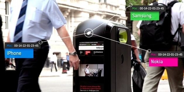 Botes de basura capaces de detectar el teléfono que usted usa