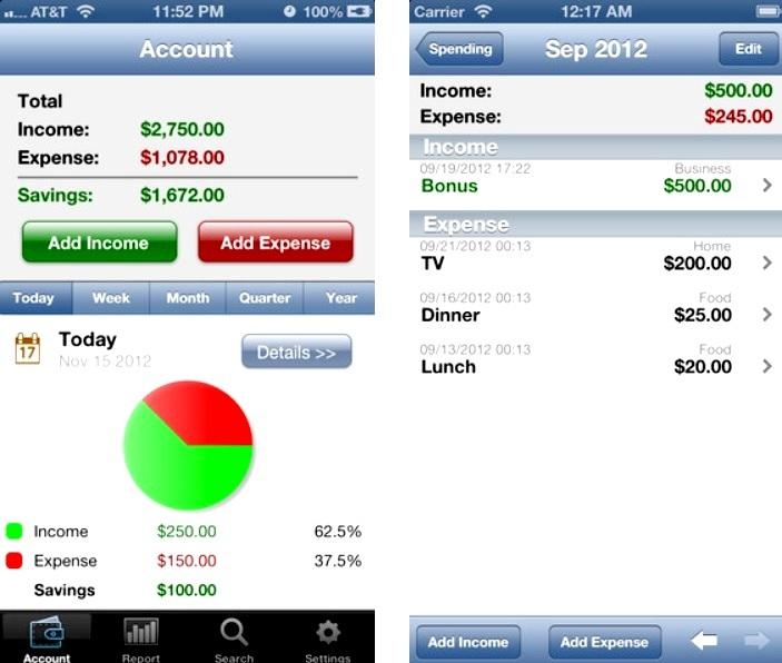 Maneje sus finanzas personales gratis para iPhone, iPad, iPod