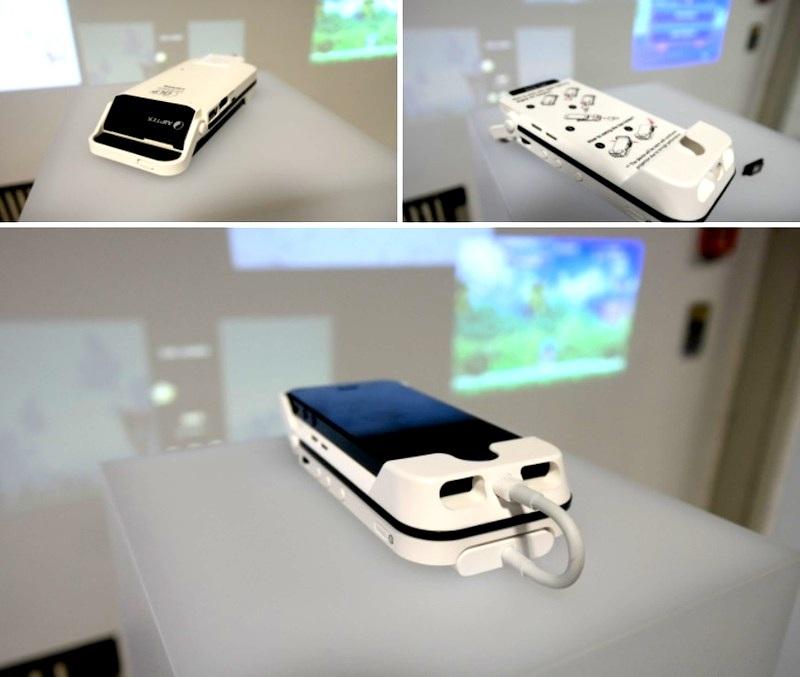 Proyector y cargador para iPhone 5