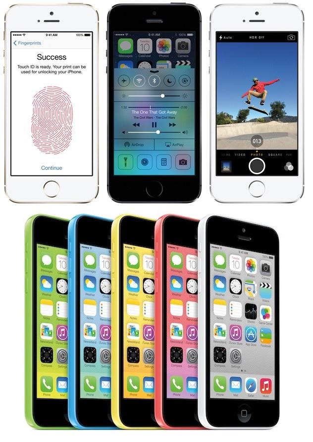 Apple presenta sus nuevos teléfonos iPhone 5s y 5c