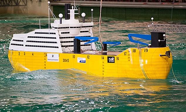 Fabrican barco que no se mueve con las olas