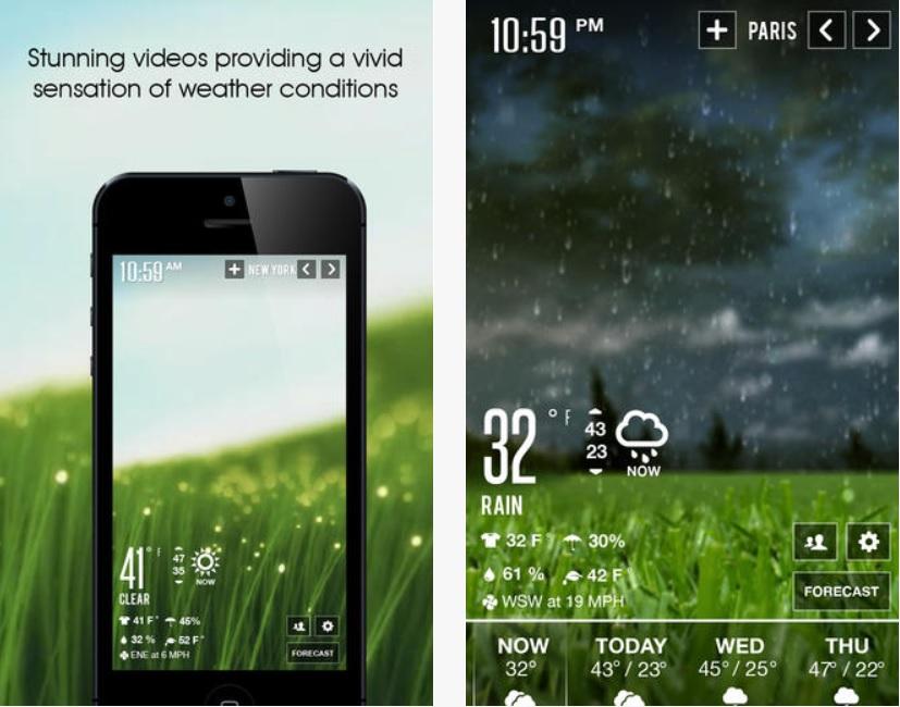 Vea el estado del clima a través de impresionantes videos, gratis para iPad, iPhone, iPod