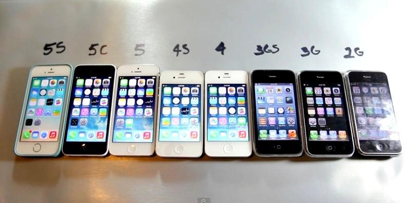 Comparación en desempeño entre todos los iPhones que han existido