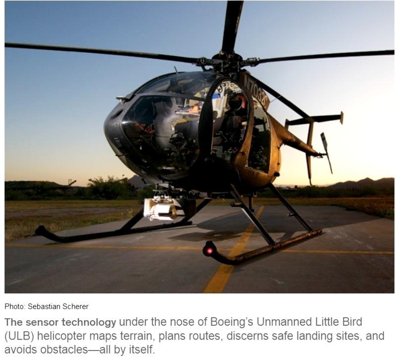 Helicóptero autónomo que aterriza por sí solo