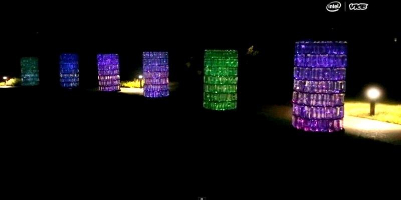 Artista crea un jardín de luz con 20 mil luces