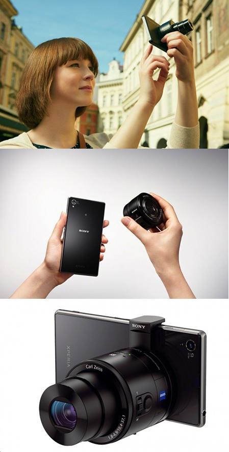 Cámaras Sony con forma de lentes para usar con smartphones