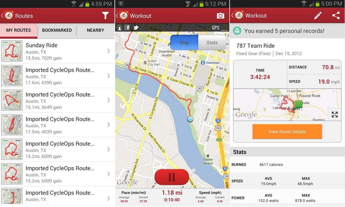 Lleve un registro y mapas de sus recorridos en bicicleta, gratis para iPhone, iPad, iPod, Android, BlackBerry