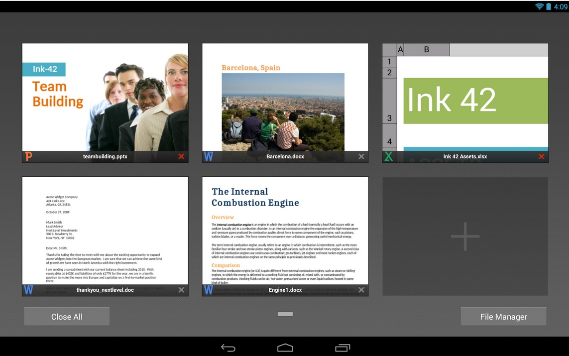 QuickOffice gratis para iPhone, iPad, iPod y Android