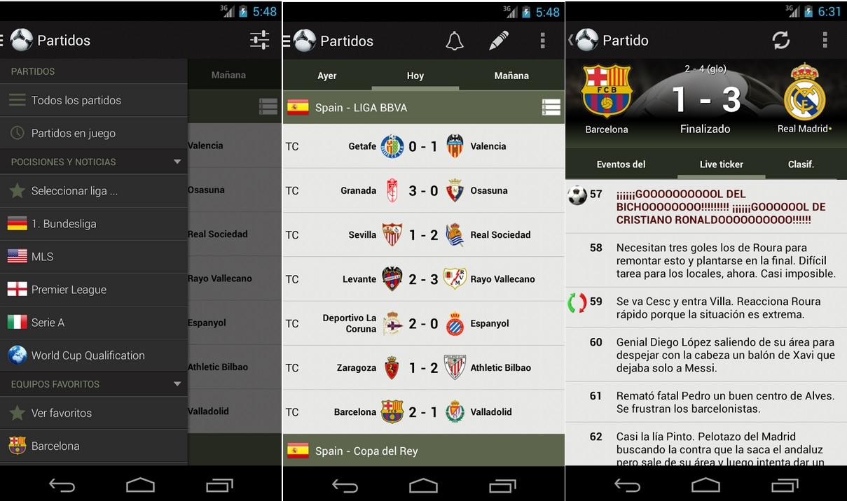 Siga los resultados de los torneos de fútbol del planeta gratis, para iPhone, iPad, iPod, Android