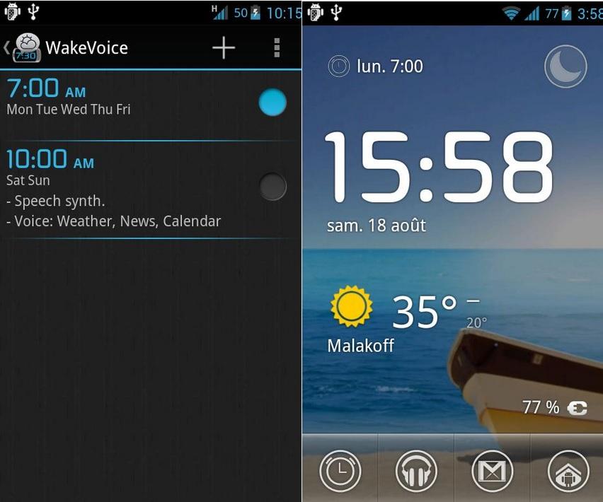 Alarma para despertarse y apagarla con su voz, gratis para Android