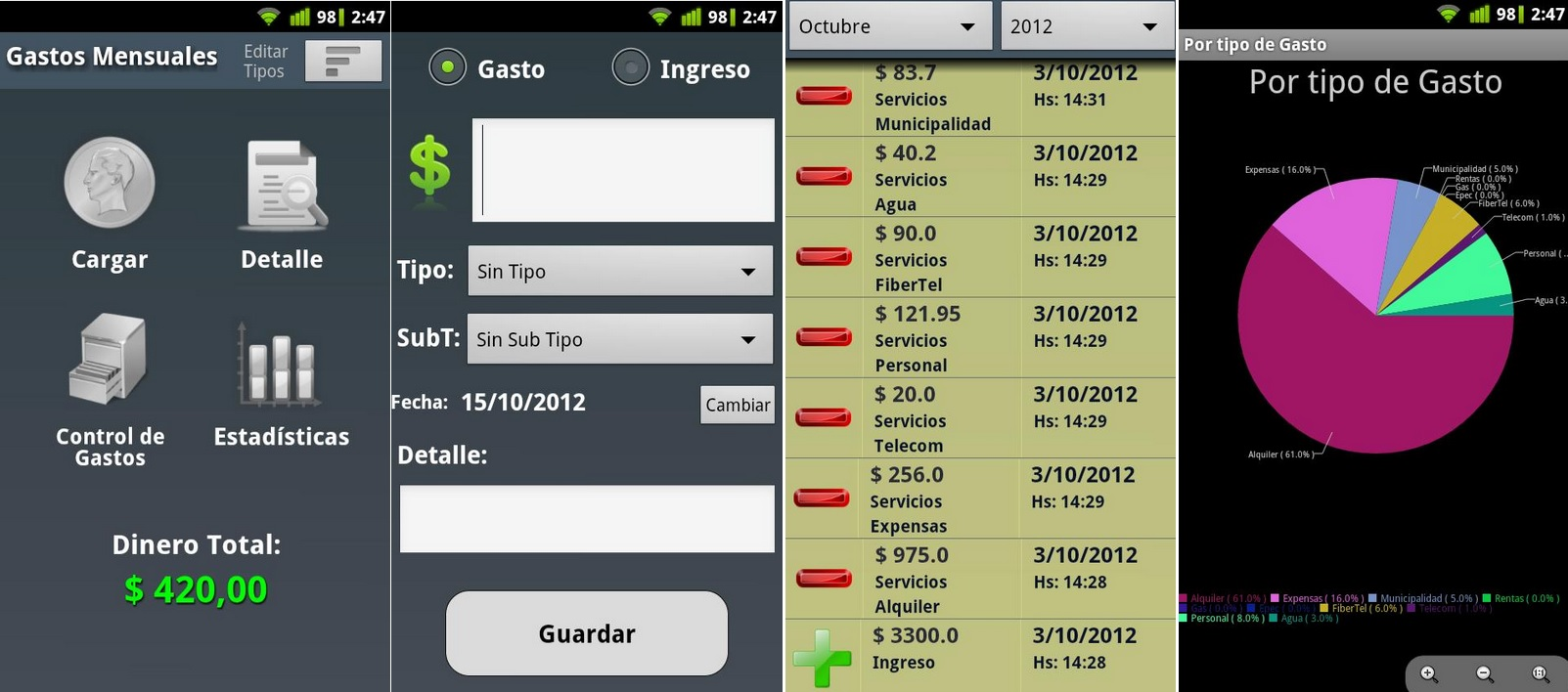 Controle sus gastos de forma intuitiva, gratis para Android