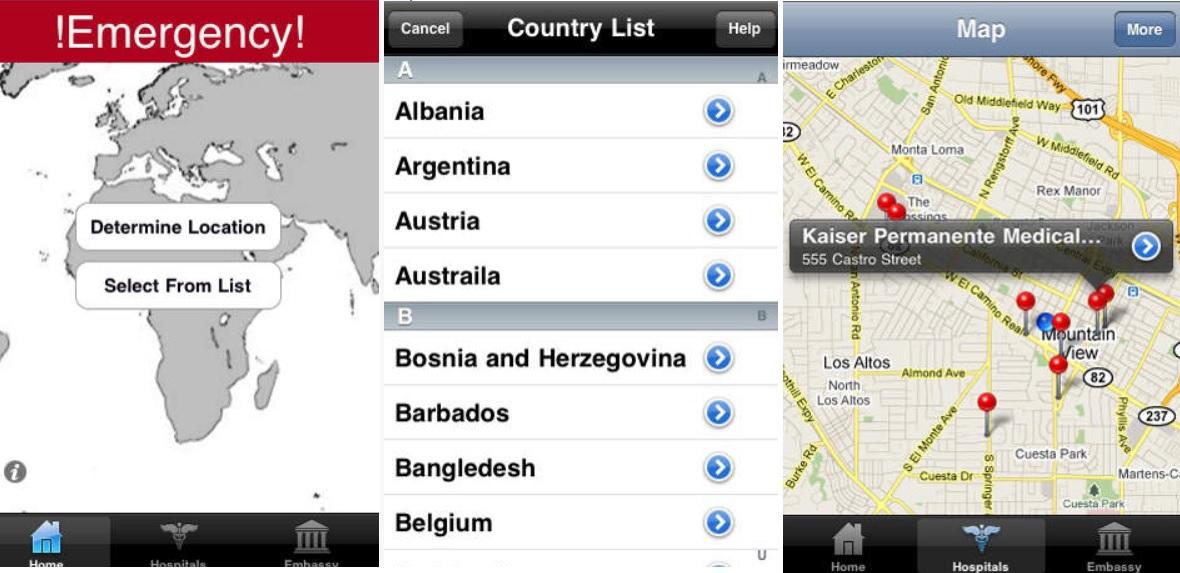 Conozca el número de emergencias de cualquier país en que se encuentre, gratis para iPhone, iPad, iPod
