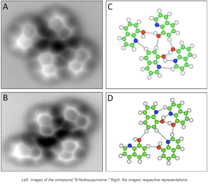 Toman fotos por primera vez de enlaces de hidrógeno
