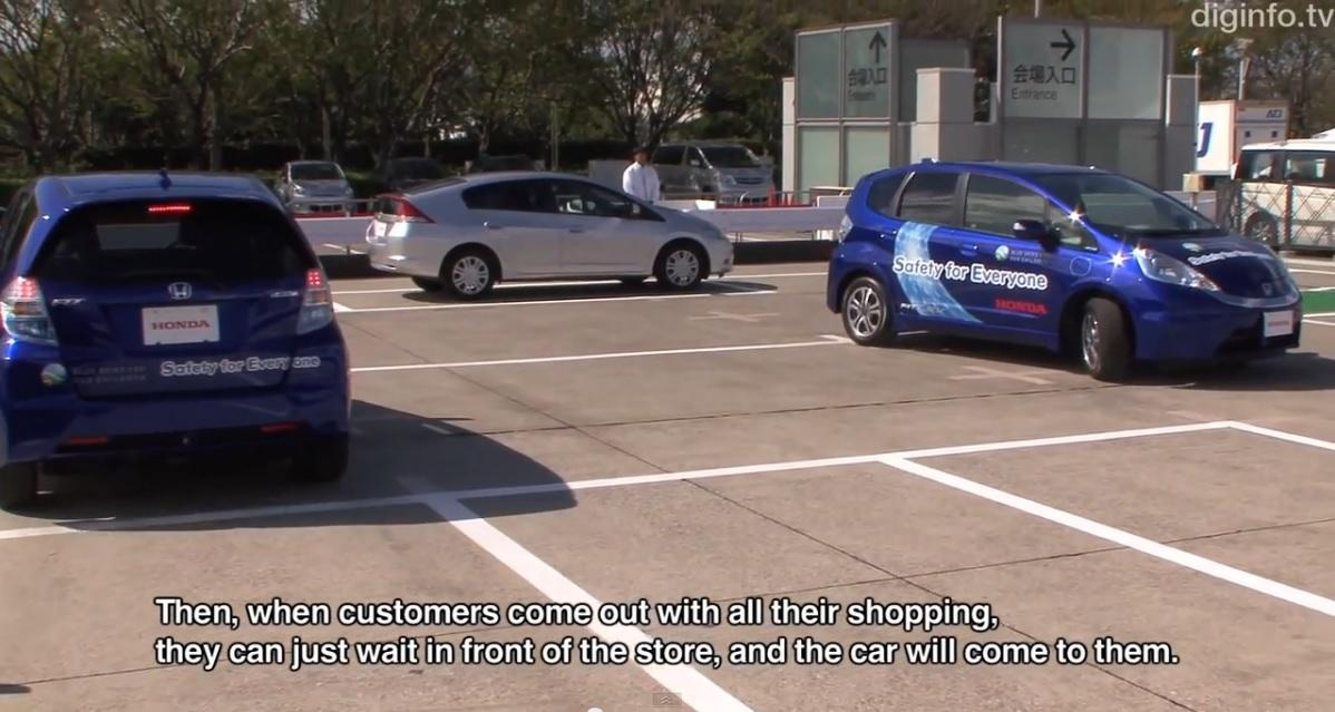 Honda desarrolla sistema de valet parking sin necesidad de conductor