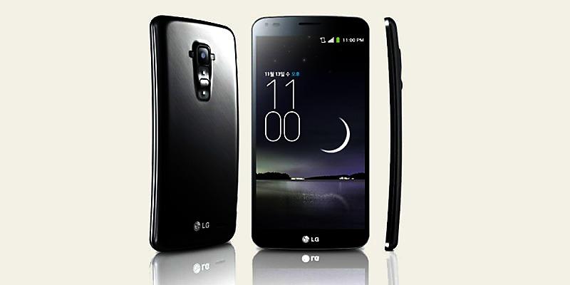 LG presenta su teléfono curvo G Flex
