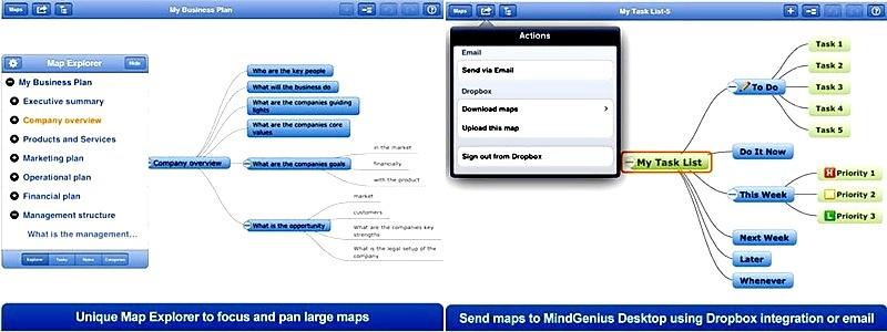 Herramienta para crear mapas mentales y capturar información, gratis para iPad